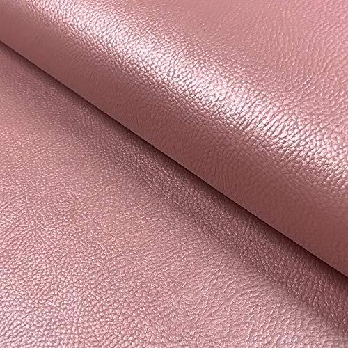 0,5m Kunstleder Uni Perlmutt-Glanz rosa, Altrosa 75% PU 25% PL Meterware 140cm breit