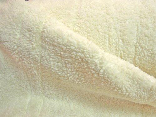 0,5m Teddy-Plüsch 80%BW 20% EL wollweiß Meterware 1,4m breit DEHNBAR