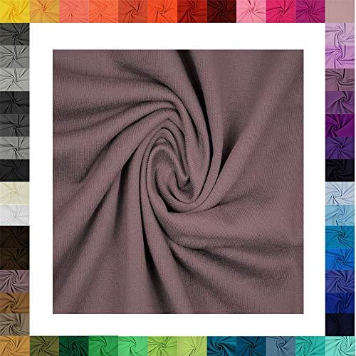 1 Meter Jersey Baumwolljersey Uni Farben, 220g/m², Öko-Tex Standard 100, Stoffe, 330g/lfm (5001 Schwarz)