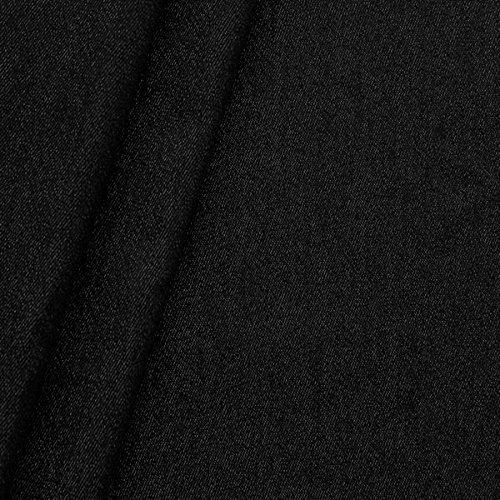 100% Baumwolle Denim Jeans Stoff schwere Qualität Meterware Schwarz
