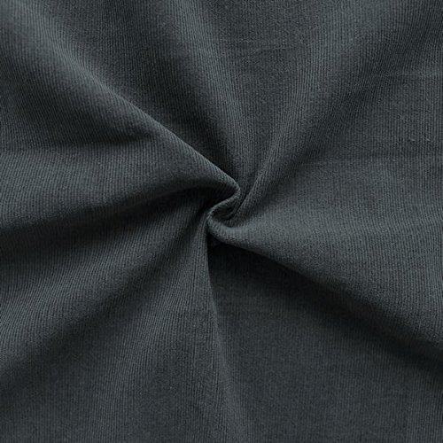 100% Baumwolle Feincord Babycord Stoff Meterware Dunkel-Grau