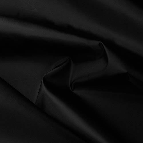 (1,75€/m) Seidentaft - Stoff Meterware - 27 Farben - Taft - Futterstoff - Deko (schwarz)