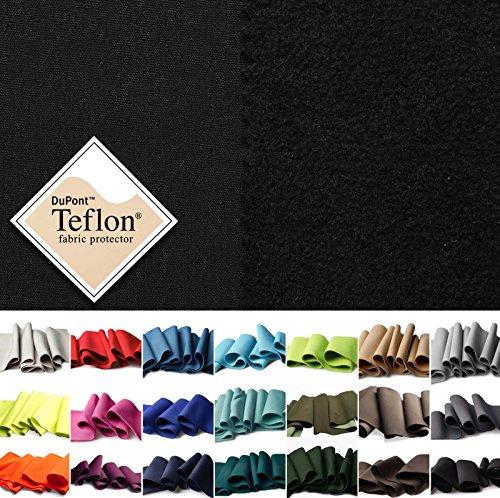 (17,99€/m) Softshell - winddicht, wasserdicht & atmungsaktiv - Outdoor- und Funktionsbekleidung - 21 Farben - Meterware (schwarz)