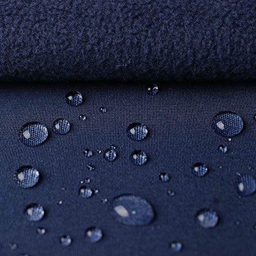 (19,99€/m) Öko-Tex® High-Tech Klimamembrane Softshell aus Jersey & Microfleece - winddicht, wasserdicht & atmungsaktiv - Meterware (dunkelblau)