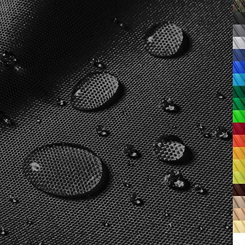 """1buy3 """"Monaco Wasserdichter Polyester Stoff   12.000 mm Wassersäule   Farbe 19   Schwarz   Polyester Stoff 160cm breit Meterware wasserdicht Outdoor extrem reissfest"""