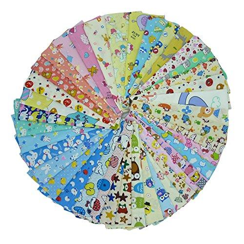"""40 stücke 20 cm * 25 cm (7,8 """"x 9,8"""") Cartoon Gedruckt Baumwollgewebe, Baby Kinder Bettwäsche Stoff Textil für DIY, Patchwork, Quilten, Nähen"""