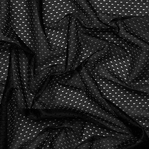 (7,99€/m) Coolmax® Mesh - schnell trocknend, Feuchtigkeitstransport - Meterware (schwarz)