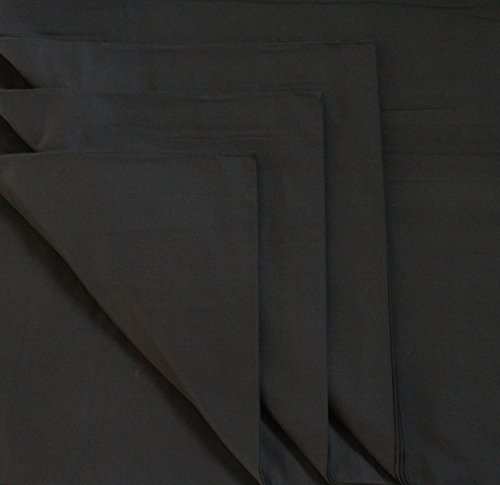 B1 Deko - Molton Stoff Meterware 300 cm Schwarz