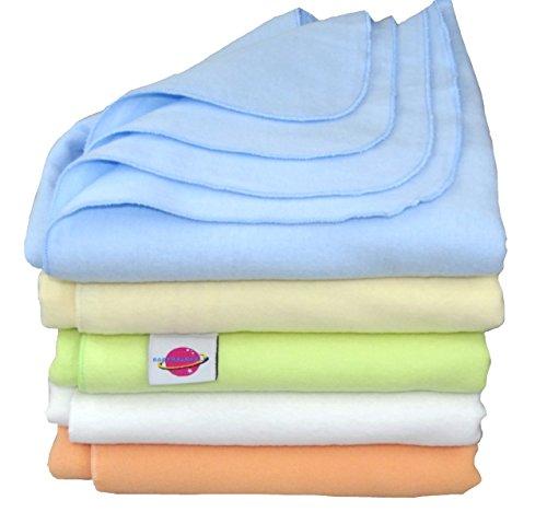 Babymajawelt® Moltontücher Flanel weiß oder bunt 80x80cm - 5er Set Super SOFT ver. Varianten (Junge bunt)