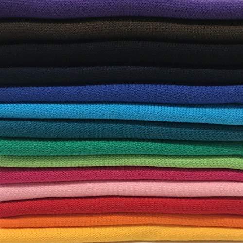 Bündchenstoff Bündchen Starterset Mix-Paket Regenbogen Paket 1 mit 14 Farben