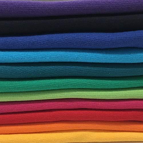Bündchenstoff Starterset Mix-Paket Regenbogen Paket 1 mit 11 Farben