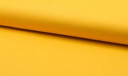 Canvas -uni/einfarbig- Meterware- Öko-Tex- 0,25 m- 315g/m Webware- Baumwollstoff (Gelb)