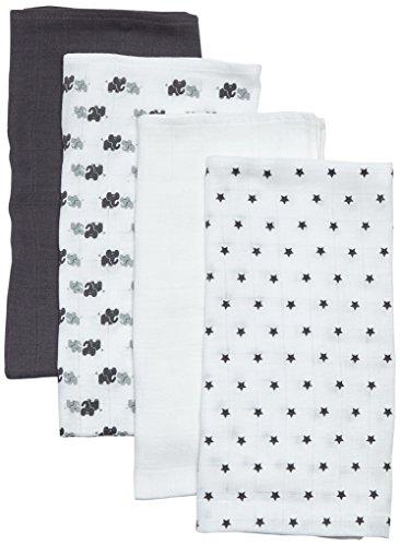 Care Baby Mullwindeln / Spucktücher im 4er Pack, 70x70 cm, All over print, Gr. One size (Herstellergröße: 70X70), Mehrfarbig