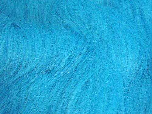 CRS Fur Fabrics Lange Flor Fun Kunstfell Stoff Material–Türkis Blau