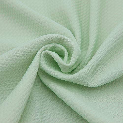 David Angie The Yard Stretch-Stoff, einfarbig, kugelförmig, strukturiert, Liverpool-Stoff, 4-Wege-Stretch, Spandex-Strickstoff, Meterware, für Kopfwickel-Zubehör (mintgrün)