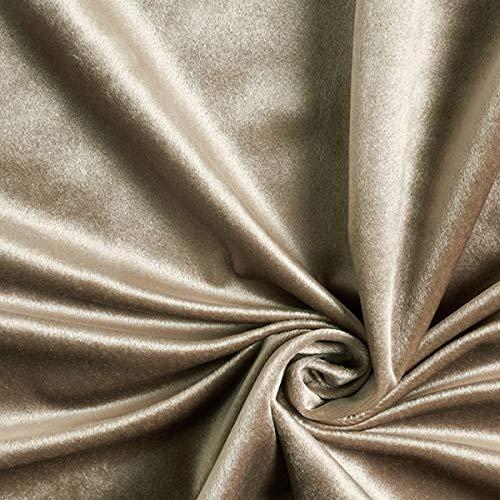 Dekostoff Samt – grau — Meterware ab 0,5m — zum Nähen von Decken, Kissen/Tagesdecken und Tagesdecken