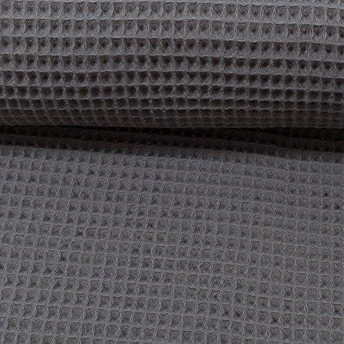 Die Stofftante Waffelpique Nelson dunkelgrau / 0,5 m x 152 cm Meterware