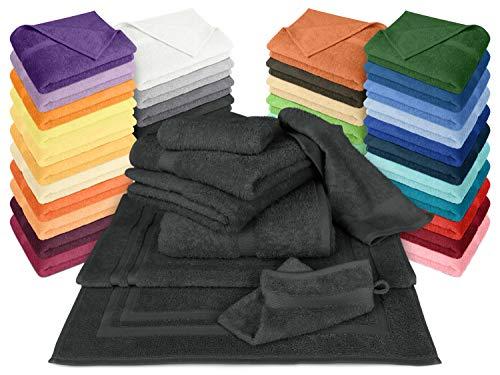 Dyckhoff Frottiertücher der Serie Opal - erhältlich in 33 modernen Farben und 7 verschiedenen Größen -Markenqualität, Duschtuch [70 x 140 cm], schwarz