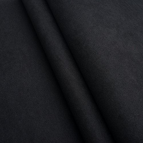 EDGE Handels Alicante Nubuk Meterware Imitat Polsterstoff Microfaser Wildleder Möbelstoff (Schwarz)