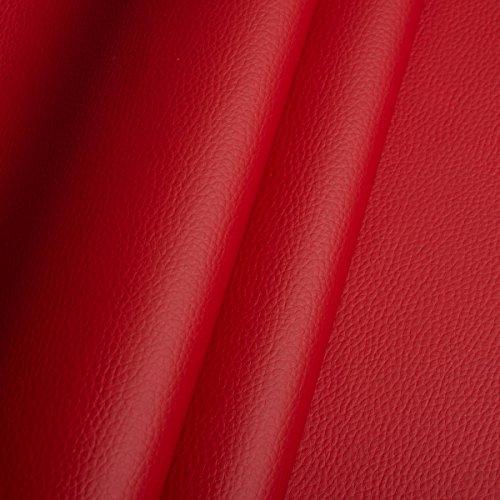 EDGE Kunstleder Meterware 1lfm 1,4m breit Polsterstoff Bezugsstoff Lederoptik Rot