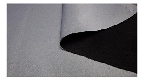 Fabrics-City GRAU/SCHWARZ 3MM STRETCH NEOPREN-IMITAT STOFF DOUBLEFACE NEOPRENSTOFF STOFFE, 3203