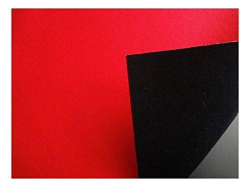 Fabrics-City % SCHWARZ/ROT NEOPREN-IMITAT STOFF DOUBLEFACE NEOPRENSTOFF STOFFE, 2755