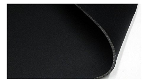 Fabrics-City SCHWARZ/SCHWARZ 5MM Stretch NEOPREN-IMITAT Stoff Doubleface Neoprenstoff Stoffe, 3207