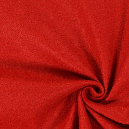 Fabulous Fabrics Filz karminrot, Uni, 180cm breit, 2 mm Stärke – Filz zum Nähen von Kopfbedeckung, Kostümen und Accessoires – Meterware erhältlich ab 0,5 m