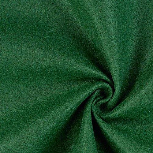 Fabulous Fabrics Filzstoff dunkelgrün, 1 mm dick, 90 cm breit – Filz zum Nähen und Basteln von Taschen, Tischdeko, Filzkörbe und Wohnaccessoires - Meterware ab 0,5m