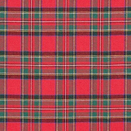 Fabulous Fabrics Flanell signalrot, Karo, 150cm breit – Flanell zum Nähen von Kissen, Decken und Handtüchern – Meterware erhältlich ab 0,5 m
