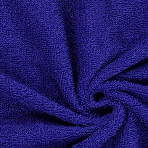 Fabulous Fabrics Frottee – königsblau — Meterware ab 0,5m — Oeko-Tex Standard 100 Produktklasse I — zum Nähen von Handtücher, Hauskleidung und Bademäntel