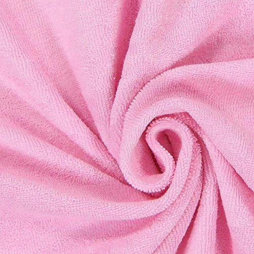 Fabulous Fabrics Frottee Stretch – rosa — Meterware ab 0,5m — zum Nähen von Bettwäsche, Handtücher und Pyjamas