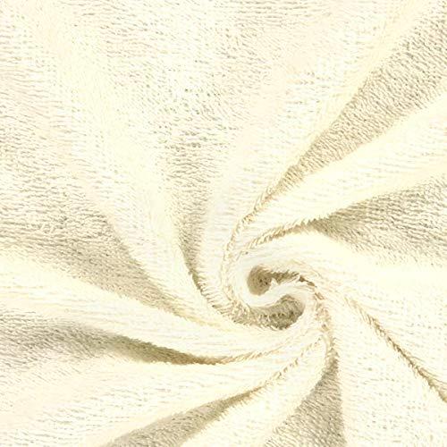 Fabulous Fabrics Frottee – wollweiss — Meterware ab 0,5m — Oeko-Tex Standard 100 Produktklasse I — zum Nähen von Handtücher, Hauskleidung und Bademäntel
