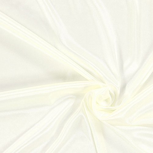 Fabulous Fabrics Futterstoff Charmeuse – wollweiss — Meterware ab 0,5m — zum Nähen von Futter, Abend- und Partymode und Tops