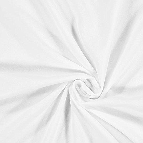 Fabulous Fabrics Georgette – Weiss — Meterware ab 0,5m — zum Nähen von Brautmode, Blusen und Tuniken