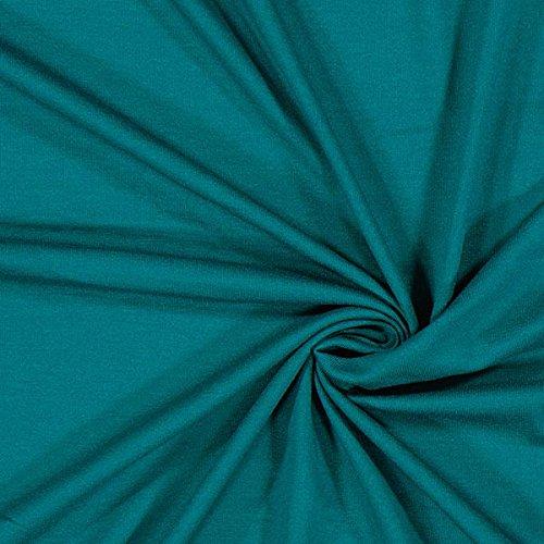 Fabulous Fabrics Leichter Viskosejersey - Petrol - Viskose Jersey Stoff zum Nähen von Kleidern, Blusen, Shirts und Röcken - Meterware ab 0,5m