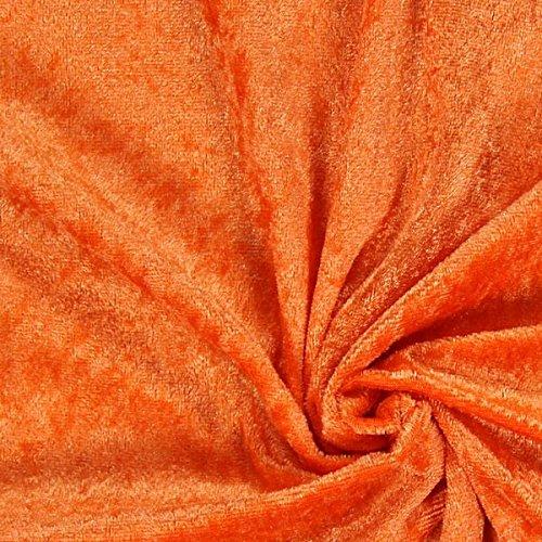 Fabulous Fabrics Pannesamt orange – Weicher Samt Stoff zum Nähen von Kleidern, Oberteilen, Tüchern und Tischdecken - Pannesamt Dekostoff & Bekleidungsstoff - Meterware ab 0,5m