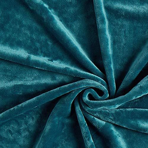 Fabulous Fabrics Samt petrol, Uni, 150cm breit – Samt zum Nähen von Jacken, Hosen und Kleidern – Meterware erhältlich ab 0,5 m