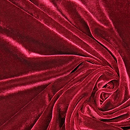 Fabulous Fabrics Samt schwarz, Uni, 147cm breit – Samt zum Nähen von Abendkleidung, Blazern und Tops – Meterware erhältlich ab 0,5 m