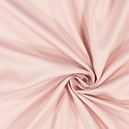 Fabulous Fabrics Satin rosé, Uni, 146cm breit – Satin zum Nähen von Abendmode, Blusen und Kleidern – Meterware erhältlich ab 0,5 m