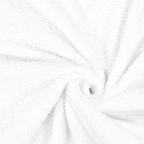 Fabulous Fabrics Teddy Plüsch Kuschel Weiss — Meterware ab 0,5m — zum Nähen von Jacken, Accessoires und Pullover