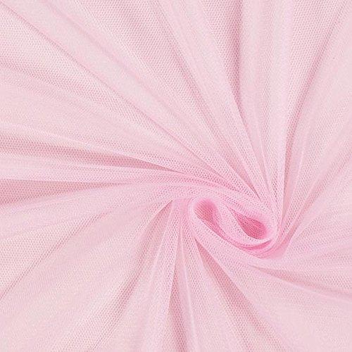 Fabulous Fabrics Tüll rosa, Uni, 145cm breit – zum Nähen von Brautschleiern, Petticoats und Röcken - Meterware erhältlich ab 0,5 m