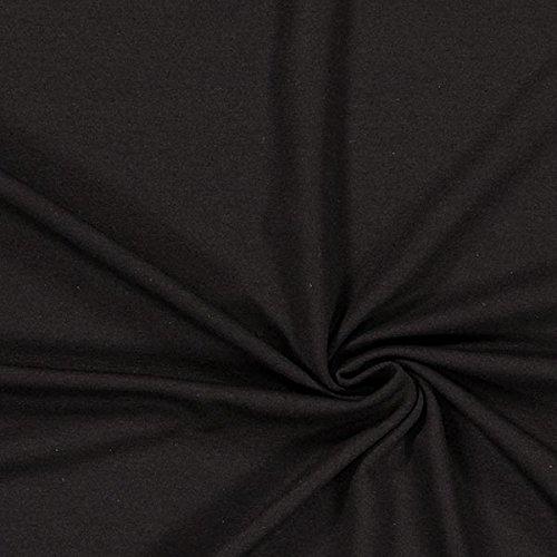 Fabulous Fabrics Viskosejersey mittelschwer – schwarz - Viskose Jersey Stoff zum Nähen von Leggings, Tops, Kleider und Tuniken - Meterware ab 0,5m