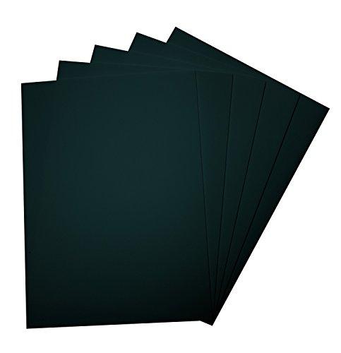 folia 23590 - Moosgummi, 5 Bögen, 2 mm, ca. 29 x 40 cm, schwarz - ideal für vielfältige Bastelarbeiten