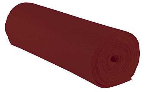 folia 520022 - Bastelfilz, mit feiner Wollqualität, 1 Rolle ca. 45 cm x 5 m, dunkelrot, klebefleckenfreie Verarbeitung - ideal für vielfältige Bastelarbeiten