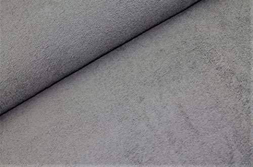 Frottee Stoffe beidseitig ab 0,25 m - Breite 150 cm - 525g/m schwer - Meterware (Grau)