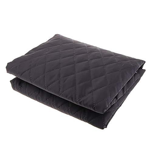 Futterstoff Steppfutter Steppstoff Jackenfutter Bettdeckenfutter aus Poly/Baumwolle, 1,45x1m, für Winter Kleidung - Schwarz