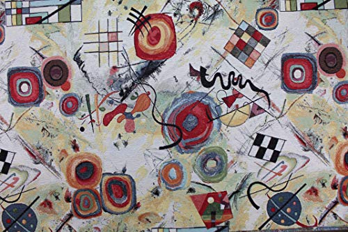 Gobelin Jacquard Stoff von Kandinsky – Höhe 1,40 m – 1 QTA = 0,50 m linear – zum Nähen von Taschen, Vorhängen, Kissen, Sofas