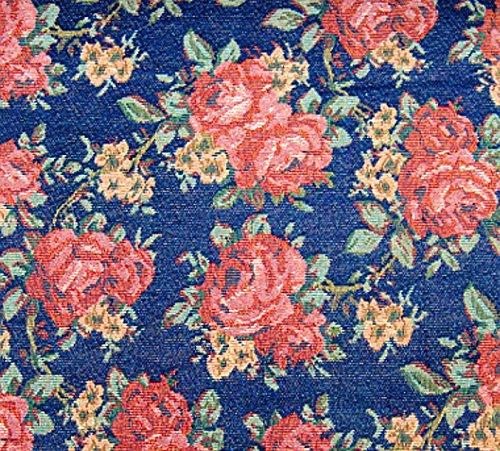 "Gobelin Stoff ""Chic Rose"" METERWARE Breite 150 cm Rose Blumen Gardinenstoff Dekostoff Jacquard Stoff Möbelstoff Romantik Jugendstil Shabby Chic Baroque"