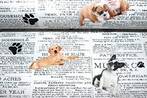 Half Panama Dekostoff Hunde | 17,90 €/m | 1,36 Meter breit | Wird in 0,1 Metereinheiten verkauft